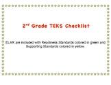 2nd Grade ELAR TEKS Checklist TEXAS