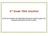 2nd Grade ELAR TEKS Checklist TEXAS