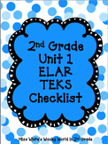 2nd Grade ELAR Unit 1 TEKS Checklist