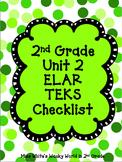 2nd Grade ELAR Unit 2 TEKS Checklist