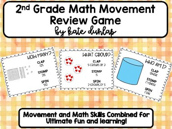2nd Grade EOY Math Review Game