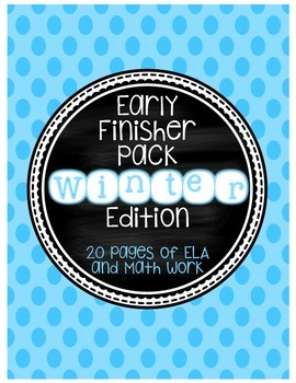 2nd Grade Early Finishers Book - Winter Themed