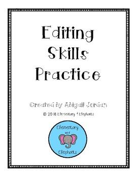2nd Grade Editing Practice