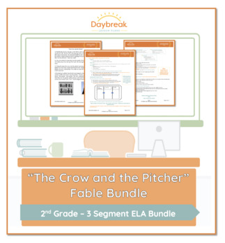 Emergency Sub Plans: Second Grade: ELA: The Crow and the Pitcher