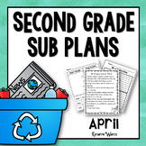 2nd Grade Emergency Sub Plans April