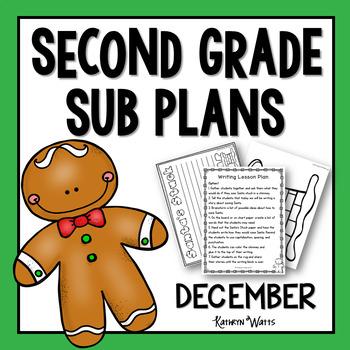 2nd Grade Sub Plans December