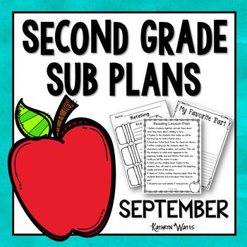 2nd Grade Sub Plans September