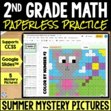 2nd Grade End of Year Math Color-by-Number | Google Classroom Distance Learning