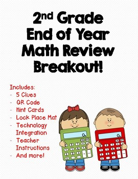 2nd Grade End of Year Math Review Breakout