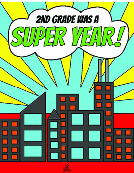 2nd Grade End of the Year Memory Book & Craft {Superhero Themed}