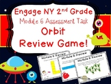 2nd Grade Engage NY Math End of Module 6 Assessment Review Scoot Orbit Game