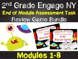 2nd Grade Engage NY Math End of Module Scoot Review Game Bundle!  Modules 1-8