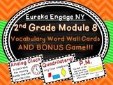 2nd Grade Engage NY Math Module 8 Vocabulary Cards Word Wall Plus Bonus Game!