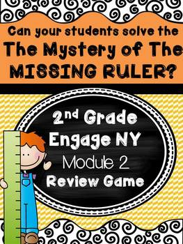 2nd Grade Engage NY Module 2 Review Game Escape Room Mystery of Missing Ruler