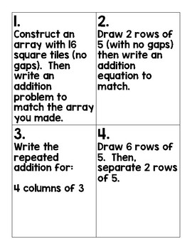2nd Grade Engage NY Module 6 Lesson 11-20 Scoot & Quiz