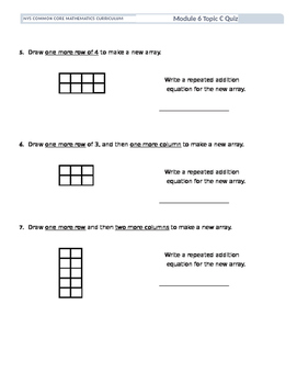 2nd Grade Engage NY Module 6 Quiz Topic C