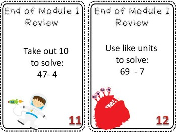 2nd Grade Engage New York Math Module 1 Review Game End of Unit Assessment