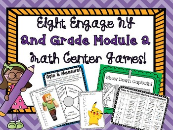 2nd Grade Engage New York Module 2 Math Centers!  8 Games! Intervention