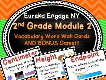 2nd Grade Engage New York Module 2 Vocabulary Cards and BONUS GAME!  So Fun!