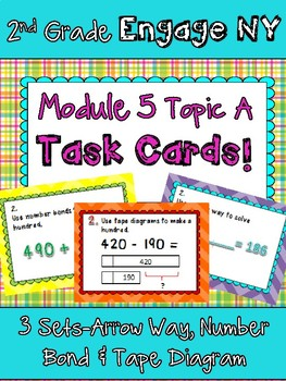 2nd Grade Engage New York Module  5 Topic A Task Cards Scoot Games Arrow Way