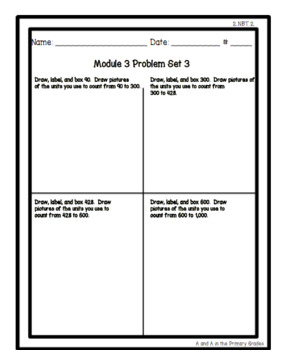 2nd Grade EngageNY Module 3 Problem Sets