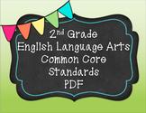 2nd Grade English Language Arts Common Core Standards PDF