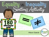 Equality vs. Inequality Expressions Differentiated Sorting Activity