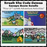 2nd Grade Escape Room Adventure Bundle (Math Calculation & Word Problems)
