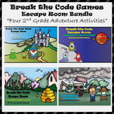 2nd Grade Digital Escape Room-Distance Learning-Google Forms-Math-Bundle