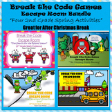 2nd Grade Escape Room Spring Seasonal Bundle (Math Calculation & Word Problems)