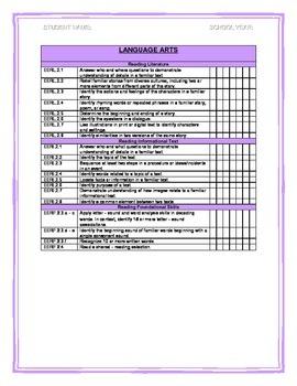 2nd Grade Essential Elements Checklist