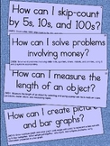 2nd Grade Essential Question Cards for Display - Small Siz