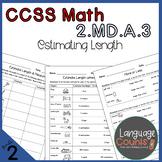 2nd Grade, Estimate Lengths- No Prep Practice Worksheets