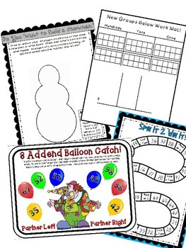 2nd Grade Eureka Engage NY Module 4 Topic D Math Centers 8 Intervention Games!