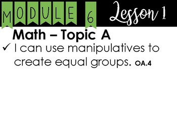 2nd Grade - Eureka I Can Statements - Module 6 - All Lessons