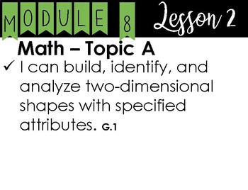 2nd Grade - Eureka I Can Statements - Module 8 - All Lessons
