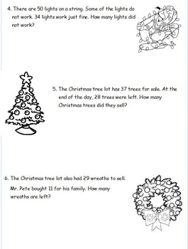 2nd Grade Eureka Math Christmas Tape Diagram Word Problems 5 Sets!