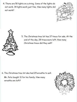 2nd Grade Eureka Math Christmas Tape Diagram Word Problems ...