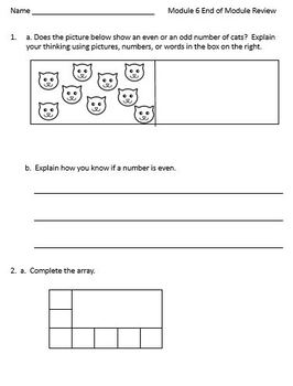 2nd Grade Eureka Math Mid & End of Module Practice Worksheets Modules 5, 6, 7, 8
