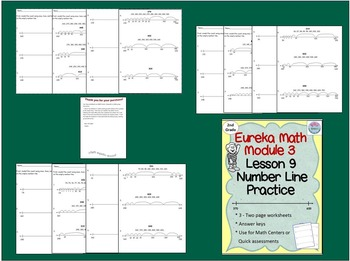 2nd Grade Eureka Math Module 3 Lesson 9 Counting on an Empty Number Line
