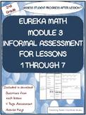 2nd Grade Eureka Math Module 3 Lessons 1 -7 Check Student Progress Assessment