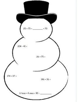 2nd Grade Eureka Math Module 4 Christmas / Holiday Worksheets  5 Sets!