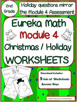 2nd grade eureka math module 4 christmas holiday worksheets 5 sets. Black Bedroom Furniture Sets. Home Design Ideas