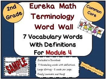 2nd Grade Eureka Math Module 4 Terminology Word Wall with