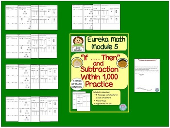 "2nd Grade Eureka Math Module 5 ""If... Then"" Statements and Subtraction Practice"