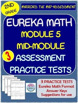 2nd Grade Eureka Math Module 5 Mid-Assessment Practice Tests .Mirrors Format