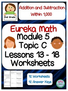 2nd Grade Eureka Math Module 5 Topic C Lessons 13-18 Worksheets