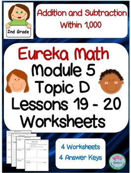 2nd Grade Eureka Math Module 5 Topic D Lessons 19 and 20 Worksheets