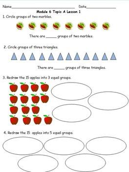 2nd Grade Eureka Math Module 6 Topic A Lessons 1 - 4 Extra Problem Sets