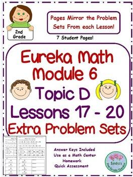 2nd Grade Eureka Math Module 6 Topic D Lessons 17 - 20 Extra Problem Sets